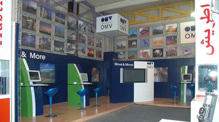Design and Construction of OMV Booth by Tarla Studio