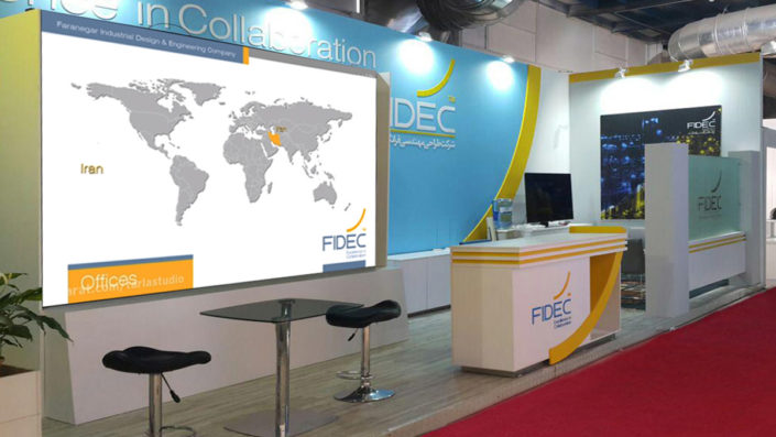 FIDEC Exhibition Stand in Tehran Oil and Gas Exhibition Design & Implementation by Tarla Studio