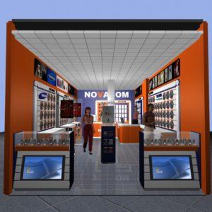 NOVACOM store Design and Decoration