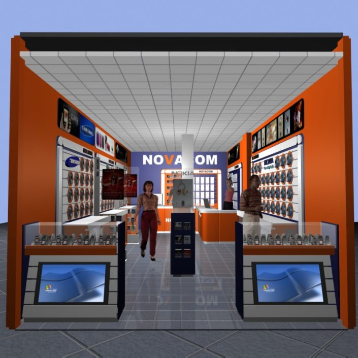 NOVACOM store Design and Decoration