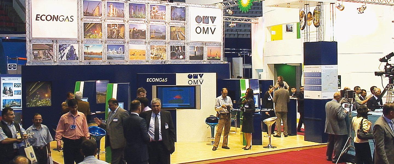 OMV Stand in Khazar oil show, Baku